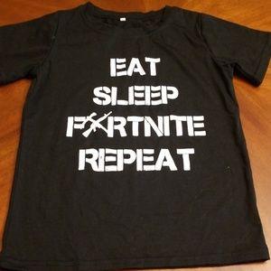 Eat sleep fornite repeat kids tee shirt J313:5:10